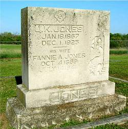"Frances Ann ""Fannie"" <I>Key</I> Jones"