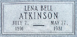 "Bethena Bell ""Lena"" <I>Akers</I> Atkinson"