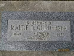 "Maude Belle ""Maudie"" <I>Walters</I> Gunderson"