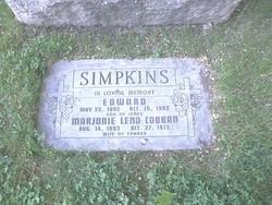Marjorie Leno <I>Cobban</I> Simpkins