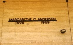 Margarethe C <I>Nissen</I> Anderson
