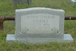 Judith <I>O'Byrne</I> Adams