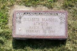 Elizabeth M. <I>Blaisdell</I> Atwood