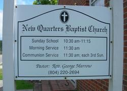 New Quarter Baptist Church Cemetery