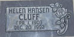 Helen Josephine <I>Hansen</I> Cluff