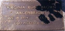 Virginia Rose <I>Brown</I> Argenbright