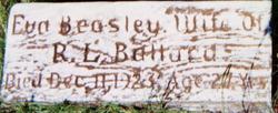 Eva <I>Beasley</I> Ballard