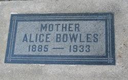 Alice <I>Porter</I> Bowles