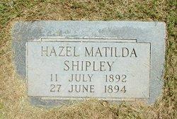 Hazel Matilda Shipley