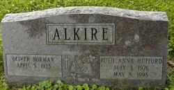 Ruth Anna <I>Hufford</I> Alkire