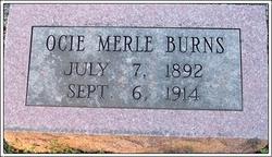 Ocie Merle Burns