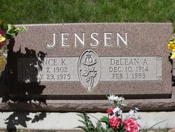 Allie Delean <I>Anderson</I> Jensen