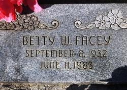 Betty Winibell <I>Haley</I> Facey