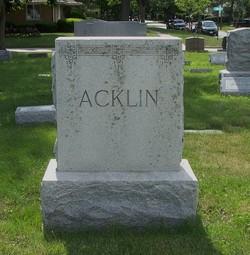 Elizabeth Mary <I>Vilven</I> Acklin