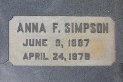 Anna <I>Fitzgerald</I> Simpson