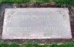 Emma J <I>Van Buren</I> Stockman