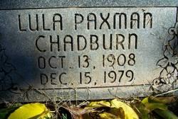 Lula Paxman Chadburn