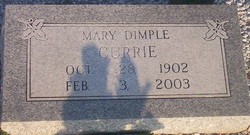 Mary Dimple <I>Cox</I> Currie
