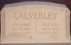 Rose Etta <I>Hightower</I> Calverley