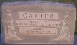 Maxine <I>Kincaid</I> Carter