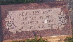 Addie Lee Davis