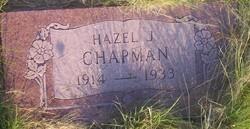 Hazel Jane <I>Sanders</I> Chapman
