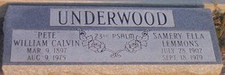 William Pete Calvin Underwood
