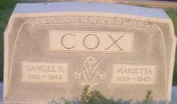 Marietta <I>Hutchinson</I> Cox