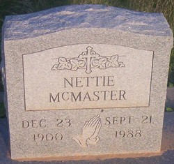 Nettie Mcmaster