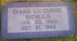 Diana Lu <I>Currie</I> Nichols