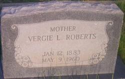 Vergie Lenora <I>Wysong</I> Roberts