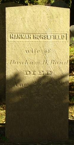 Hannah <I>Horsefield</I> Bond