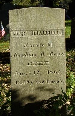 Mary <I>Horsefield</I> Bond