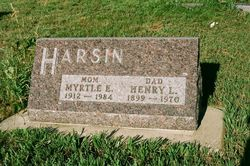 Myrtle Estelle <I>Gruenewald</I> Harsin