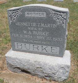 Jennettie T <I>Martin</I> Burke