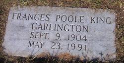 Frances Poole <I>King</I> Garlington