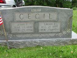Sarah Emma <I>Angel</I> Cecil