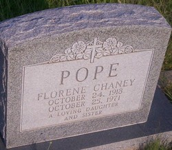 Florene <I>Chaney</I> Pope