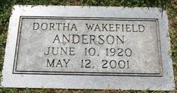 Dortha J <I>Wakefield</I> Anderson