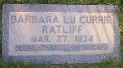 Barbara Lu <I>Currie</I> Ratliff