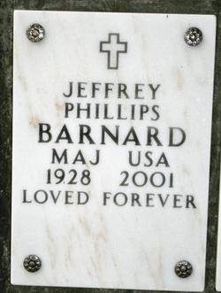 Maj Jeffrey Phillips Barnard