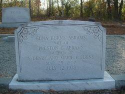 Edna <I>Burns</I> Abrams