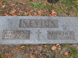 Mary Jane <I>Jellinger</I> Nevius