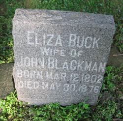 Eliza <I>Buck</I> Blackman