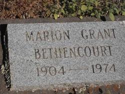 Marion C <I>Grant</I> Bethencourt