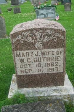 Mary J <I>Castella</I> Guthrie