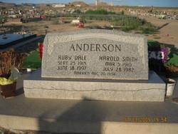 "Ruby Dale ""Scott"" <I>Olsen</I> Anderson"
