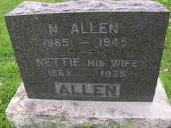 """Sarah Phineta """"Nettie"""" <I>Bennett</I> Allen"""