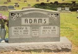 Mamie Marie <I>Williams</I> Adams