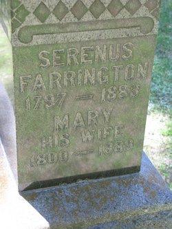 Mary <I>Richards</I> Farrington
